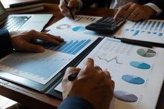 Introducci?n financiera del cousultation del negocio de la reuni?n del planificador del contable foto de archivo libre de regalías