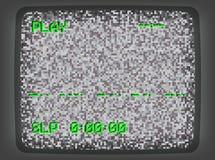 Introducción gris de la pantalla de VHS stock de ilustración