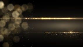 Introducción ligera de oro abstracta, marco, fondo HD almacen de video