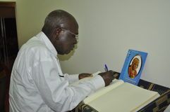 Introducing condolences to the family of President Laurent Gbagbo Royalty Free Stock Photos