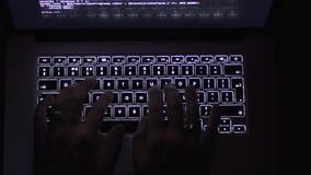 Introduction au clavier le carnet foncé banque de vidéos