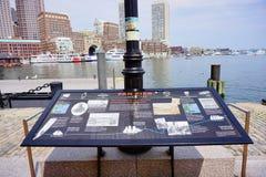 Introduction of Boston harbor. Pier Royalty Free Stock Photo