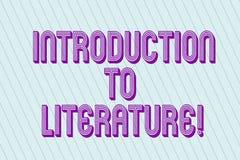 Introduction des textes d'écriture à la littérature Pastel préparatoire de blanc de cours de composition en signification de conc illustration stock