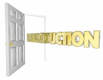 Introduction Door Opening Welcome Word. 3d Animation Stock Image