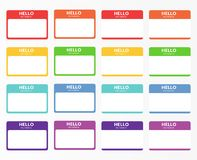 Introduction name stickers. For meetups, blind and speed dates. Nametag set royalty free illustration