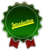 INTRODUCTION round green ribbon. Illustration graphic design concept image Royalty Free Stock Photo