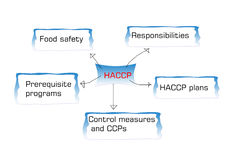 Introduction to  HACCP standard, haccp is hazard analysis critical control point Royalty Free Stock Photography