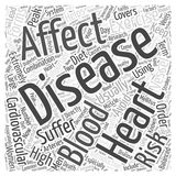 An Introduction to Heart Disease word cloud concept  background. Text Royalty Free Stock Photos