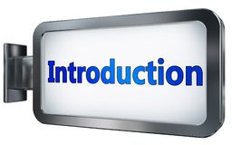 Introduction on billboard. Introduction wall light box billboard background , isolated on white Stock Photography