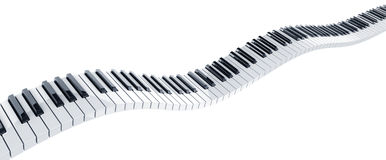 introduit le piano illustration de vecteur