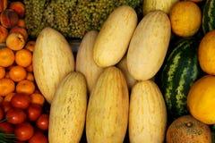 Introduza no mercado vegetais Foto de Stock Royalty Free