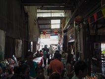 Introduzindo no mercado 100 anos em Chachoengsao, Tailândia Fotos de Stock Royalty Free