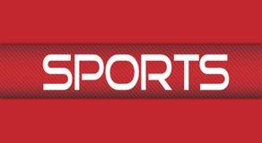 Introduzione di sport Fondo rosso-chiaro royalty illustrazione gratis