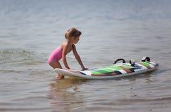 Introduzione nel windsurfing Immagini Stock