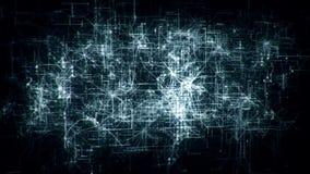 introduzione a più strati Logo Motion Background di griglia della rete della matrice 3D stock footage