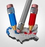 Intromisión de la elección en los Estados Unidos stock de ilustración