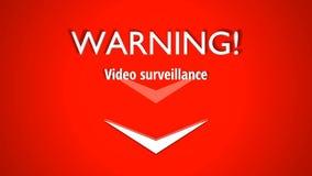 Introoutro van het waarschuwings videotoezicht vector illustratie
