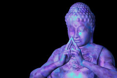 Introspection. Abstract digital 3D illustration/background  showing a buddha meditating Stock Photography