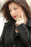 Introspection. Woman quietly ponders Stock Image