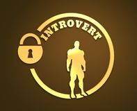 Introvert metaphor icon Royalty Free Stock Images