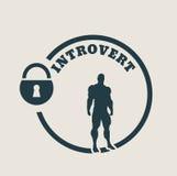Introvert metaphor icon Stock Photography