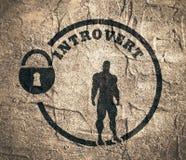 Introvert metaphor icon Royalty Free Stock Image