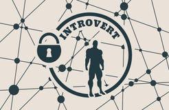 Introvert metaphor icon Stock Photo