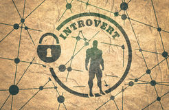 Introvert metaphor icon Royalty Free Stock Photo