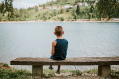 Introverted boy Royalty Free Stock Image