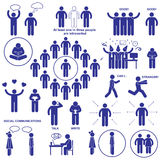 Introverts and extroverts  pictograms. Royalty Free Stock Image