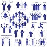 Introverts y los pictogramas de los extroverts stock de ilustración