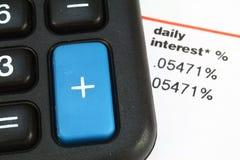Intérêt quotidien Images libres de droits