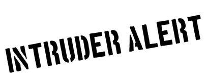 Intruder Alert black stamp on white Stock Photo