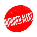 Intruder Alert rubber stamp. Grunge design with dust scratches. Effects can be easily removed for a clean, crisp look. Color is easily changed Royalty Free Stock Image