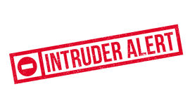 Intruder Alert rubber stamp. Grunge design with dust scratches. Effects can be easily removed for a clean, crisp look. Color is easily changed Royalty Free Stock Photography