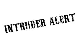 Intruder Alert rubber stamp. Grunge design with dust scratches. Effects can be easily removed for a clean, crisp look. Color is easily changed Stock Photos