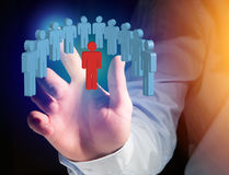 Intruder in a group of network people - Business and contact con Royalty Free Stock Images