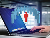 Intruder in a group of network people - Business and contact con Royalty Free Stock Photos