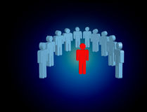 Intruder in a group of network people - Business and contact con Royalty Free Stock Image