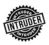 Intruder rubber stamp. Grunge design with dust scratches. Effects can be easily removed for a clean, crisp look. Color is easily changed Stock Image