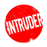 Intruder rubber stamp. Grunge design with dust scratches. Effects can be easily removed for a clean, crisp look. Color is easily changed Royalty Free Stock Photos