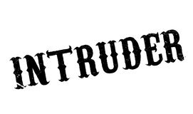 Intruder rubber stamp. Grunge design with dust scratches. Effects can be easily removed for a clean, crisp look. Color is easily changed Stock Photos