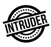 Intruder rubber stamp. Grunge design with dust scratches. Effects can be easily removed for a clean, crisp look. Color is easily changed Royalty Free Stock Photo