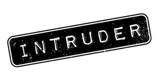 Intruder rubber stamp. Grunge design with dust scratches. Effects can be easily removed for a clean, crisp look. Color is easily changed Stock Photo