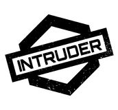 Intruder rubber stamp. Grunge design with dust scratches. Effects can be easily removed for a clean, crisp look. Color is easily changed Stock Images