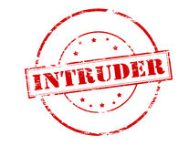 Intruder. Rubber stamp with word intruder inside,  illustration Stock Photography