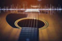 Intrument предпосылки музыки ретро акустическое стоковая фотография rf