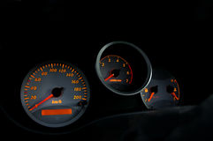 Intruments 01 do carro imagens de stock