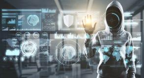 Intrus dans le cyberespace Image stock