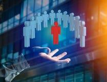 Intrus dans un groupe de personnes de réseau - les affaires et le contact escroquent Photos stock